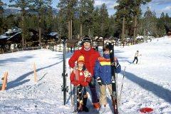 Carl Justin skiing